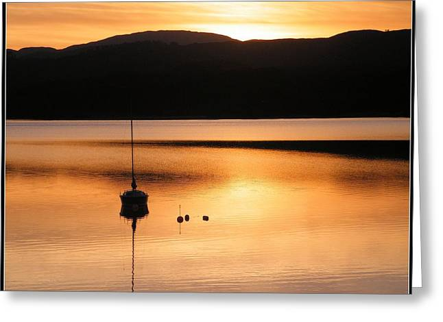 Golden Sunset Greeting Card by Ronnie Reffin