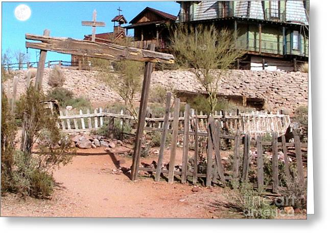 Goldfield Ghost Town Greeting Card by Cristophers Dream Artistry