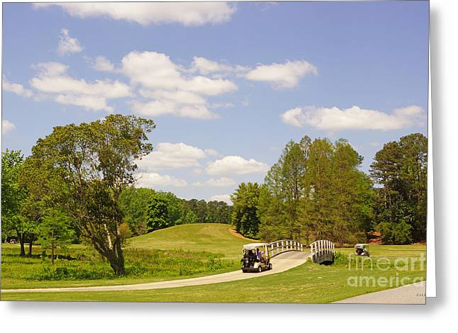 Golf At Calloway Gardens Greeting Card