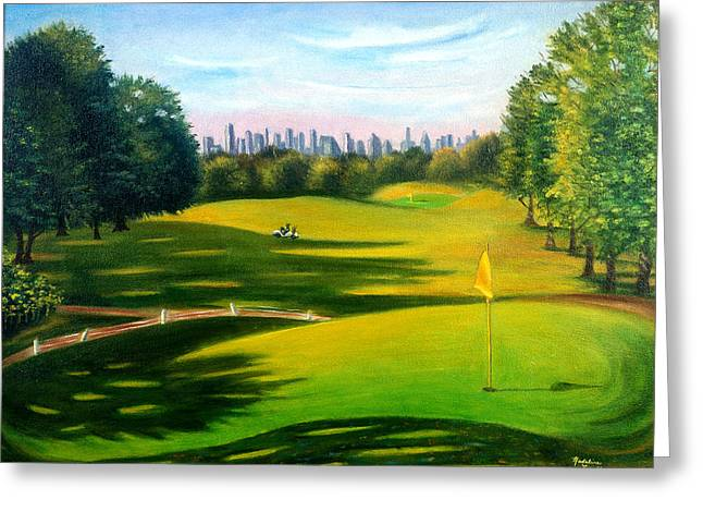 Golf Course At Forest Park Greeting Card