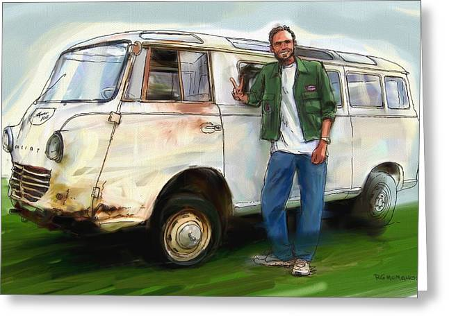 Goliath Van Greeting Card
