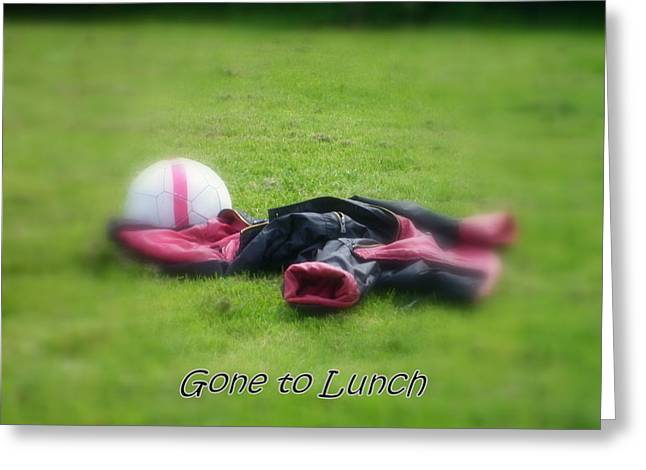 Gone To Lunch Greeting Card by Mandy Jayne