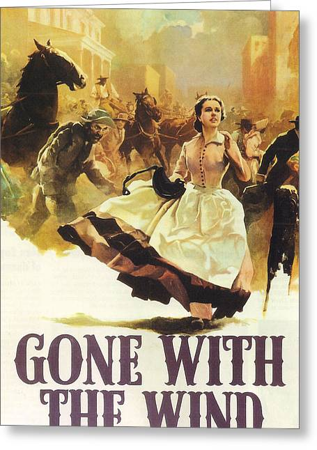 Gone With The Wind Greeting Card by Georgia Fowler