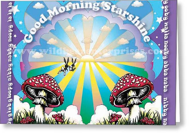 Good Morning Starshine Greeting Card by Annie Wildbear