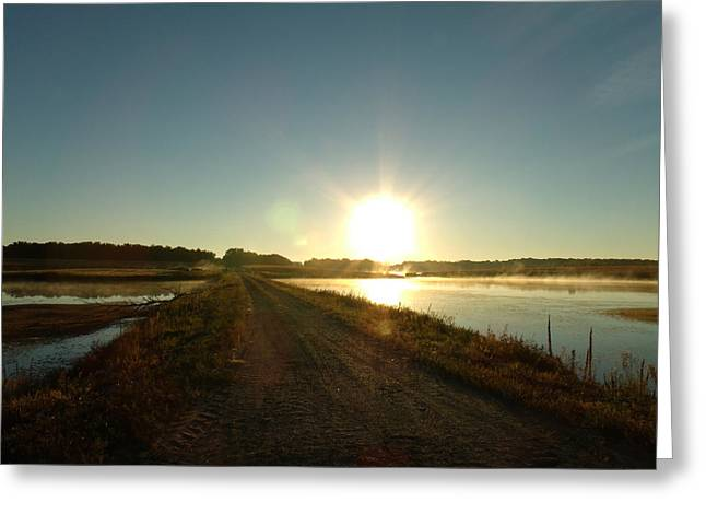 Good Morning Sunrise Road  Greeting Card by Brian  Maloney