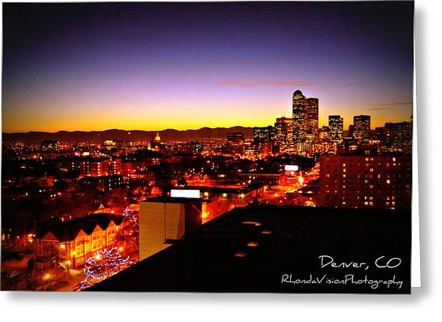 Good Night Mile High Greeting Card by Rhonda DePalma