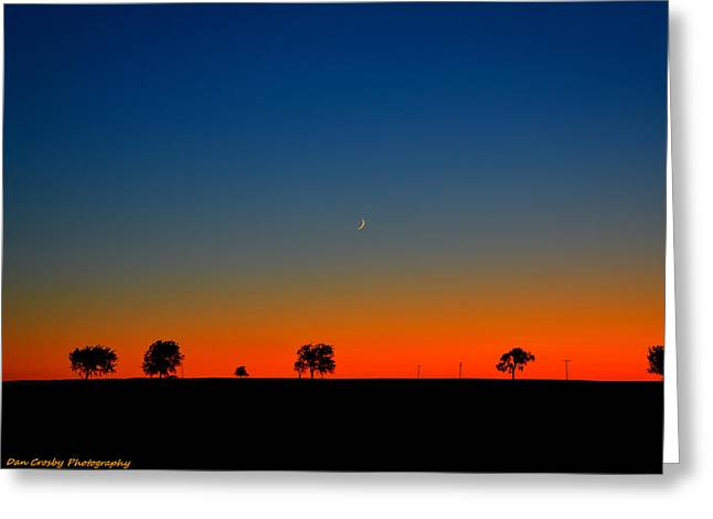 Good Night Moon Greeting Card by Dan Crosby