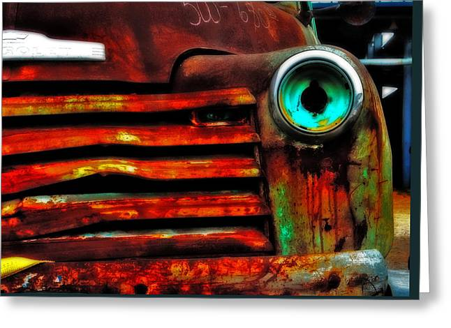 Rusty Truck Greeting Card by Toni Hopper