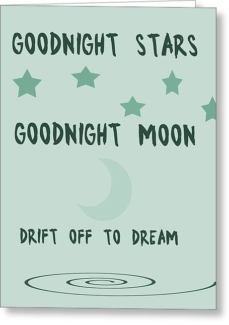 Goodnight Stars Goodnight Moon Greeting Card