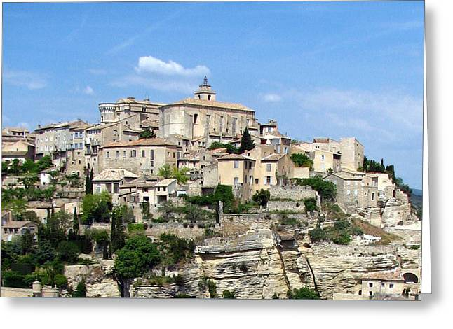 Greeting Card featuring the photograph Gordes In Provence by Carla Parris