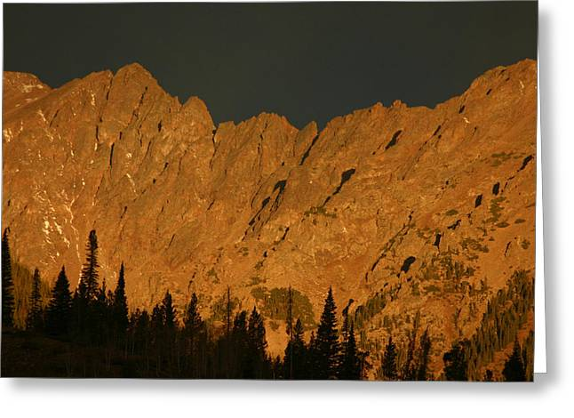 Gore Range Alpenglow Greeting Card by Bob Berwyn