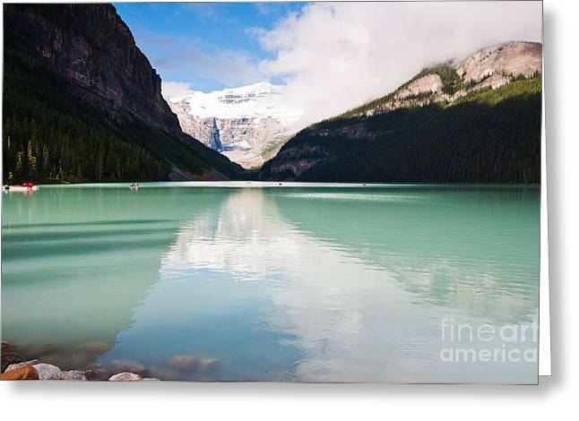 Greeting Card featuring the photograph Gorgeous Lake Louise by Cheryl Baxter