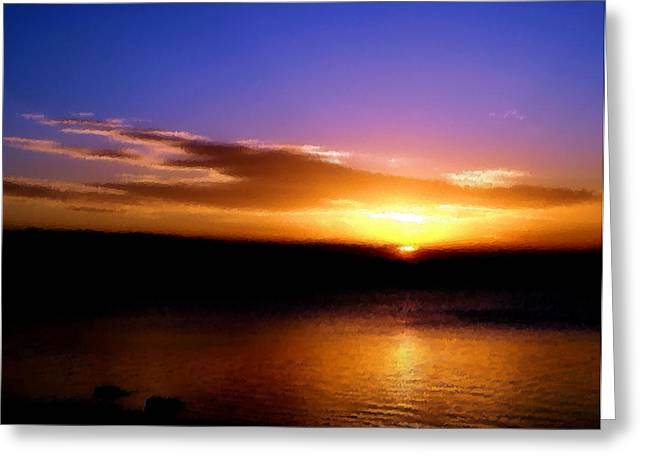 Gorgeous Sunset  Greeting Card by Karen Scovill