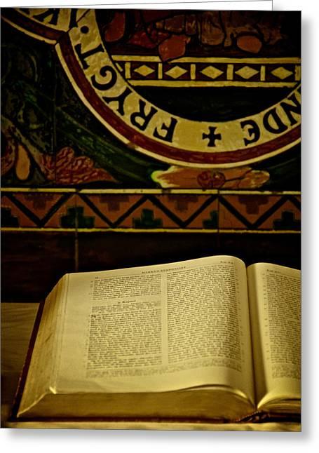 Gospel Of Mark Greeting Card by Odd Jeppesen