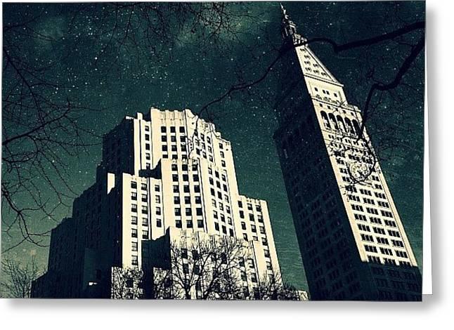 Gotham City Metlife Greeting Card by Natasha Marco