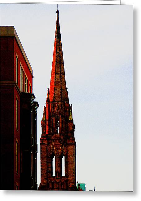 Gothic Spire Greeting Card by Marie Jamieson
