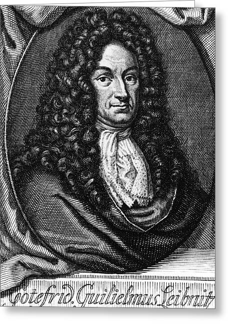 Gottfried Wilhelm Leibniz, German Greeting Card by Photo Researchers, Inc.