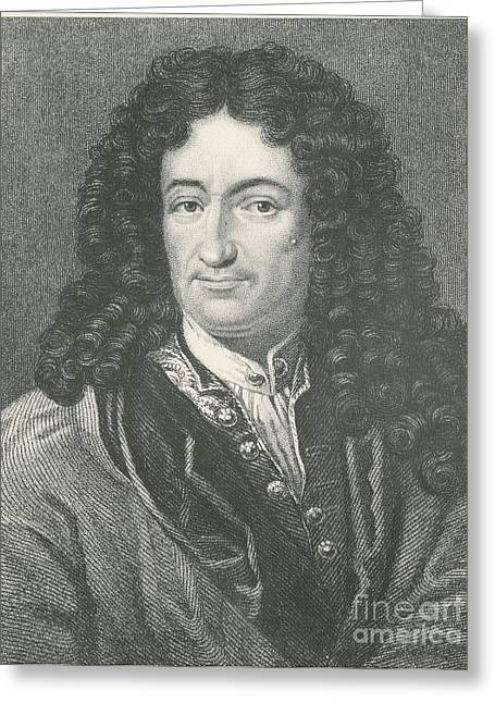 Gottfried Wilhelm Leibniz, German Greeting Card by Science Source