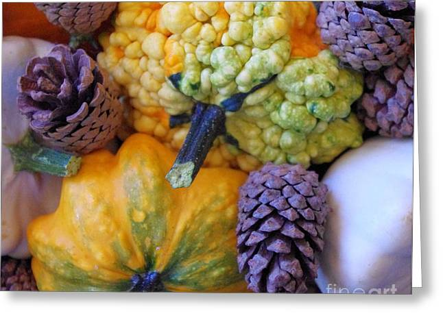 Greeting Card featuring the photograph Gourds 4 by Deniece Platt