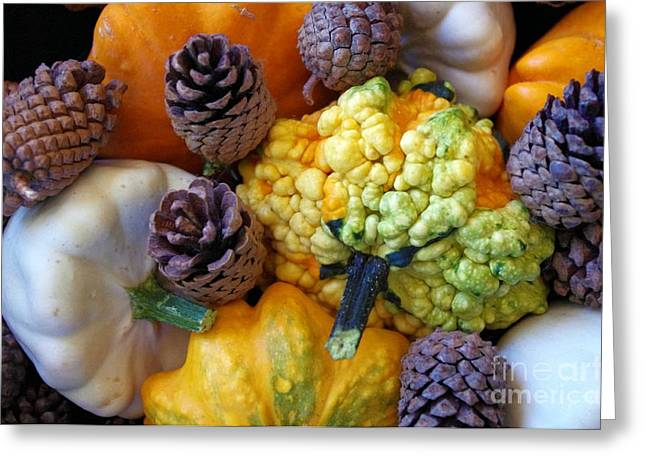Greeting Card featuring the photograph Gourds 5 by Deniece Platt
