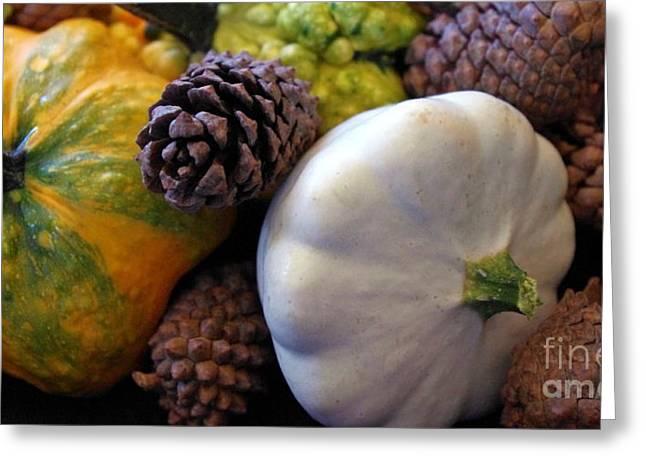 Greeting Card featuring the photograph Gourds 6 by Deniece Platt