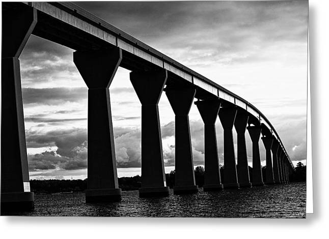 Greeting Card featuring the photograph Gov. Thomas Johnson Bridge by Kelly Reber