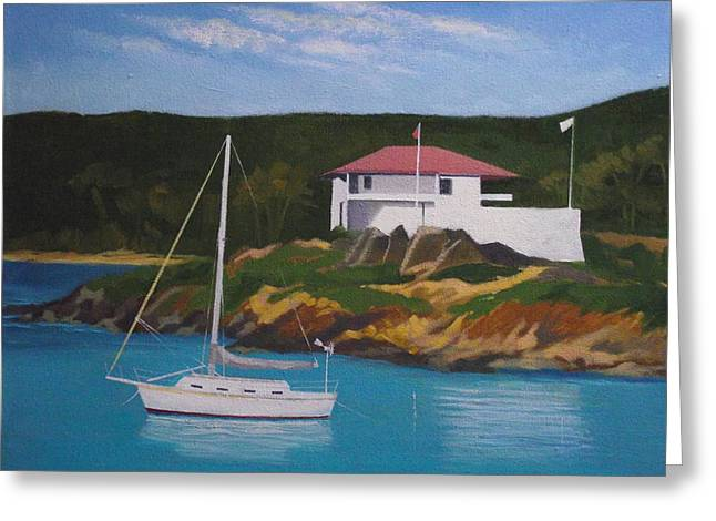Government House At Cruz Bay Greeting Card by Robert Rohrich