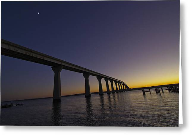 Greeting Card featuring the photograph Governor Thomas Johnson Bridge by Kelly Reber