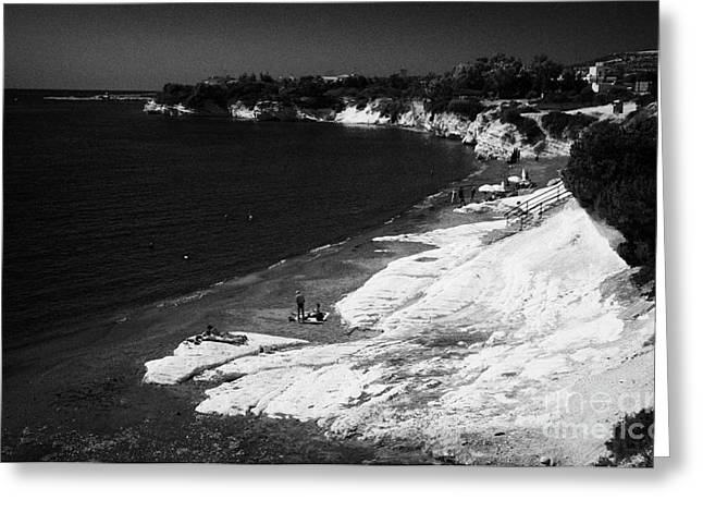 Governors Beach Near Limassol Lemesos Republic Of Cyprus Europe Greeting Card by Joe Fox