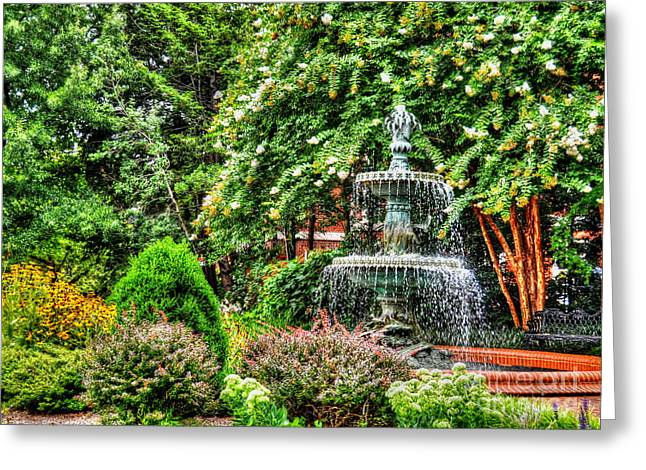 Governors Garden Greeting Card by Debbi Granruth
