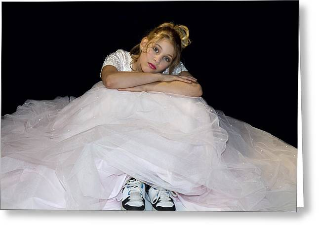 Gown And Sneakers Greeting Card by Trudy Wilkerson