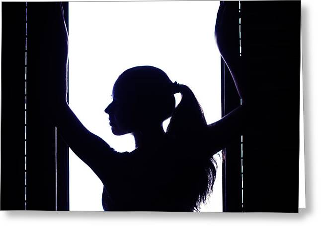 Graceful Silhouette Greeting Card