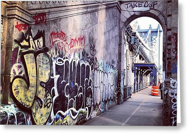Graffiti Bridge Greeting Card