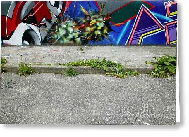 Graffiti Footpath Greeting Card