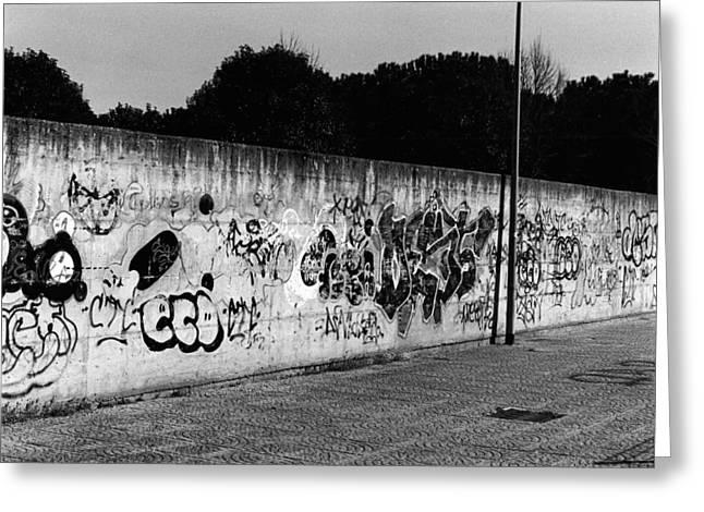 Graffiti In Rome Greeting Card by Luca Rosa