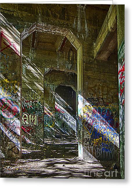 Graffiti Underground Greeting Card