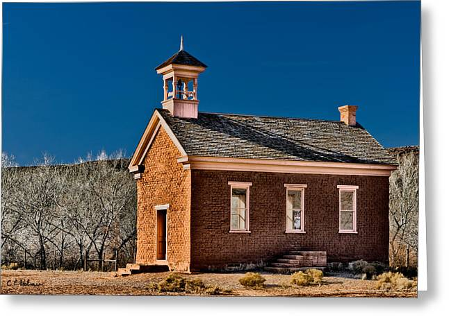 Grafton Schoolhouse Greeting Card by Christopher Holmes