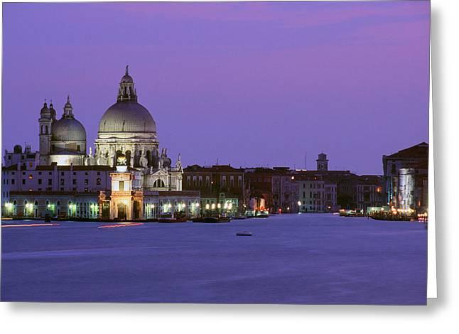 Grand Canal Venice Greeting Card by Carlos Diaz