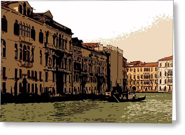 Grand Canal Venice II Greeting Card by Mindy Newman