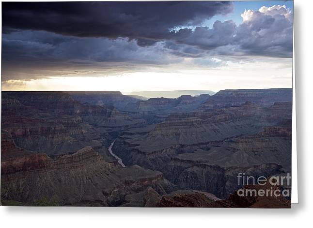 Grand Canyon As Seen From Mohave Point Greeting Card by Terry Moore