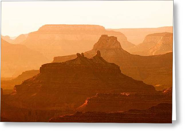 Grand Canyon At Dusk Greeting Card by C Thomas Willard