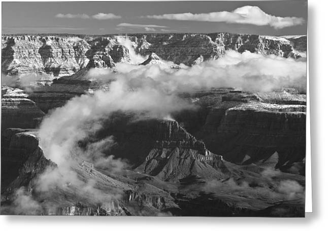 Grand Canyon Black And White Greeting Card