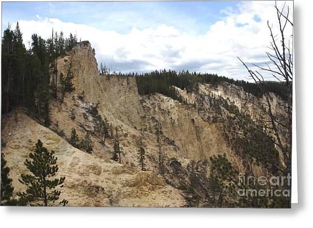 Grand Canyon Cliff In Yellowstone Greeting Card by Living Color Photography Lorraine Lynch
