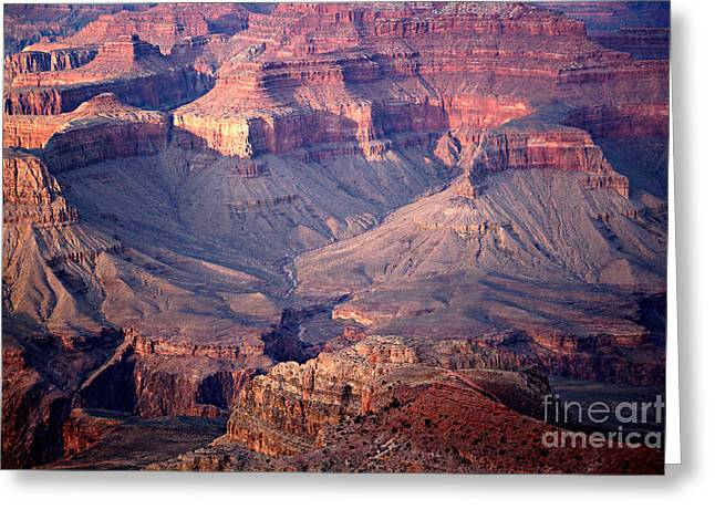 Grand Canyon Evening Interior Greeting Card by Michael Kirsh