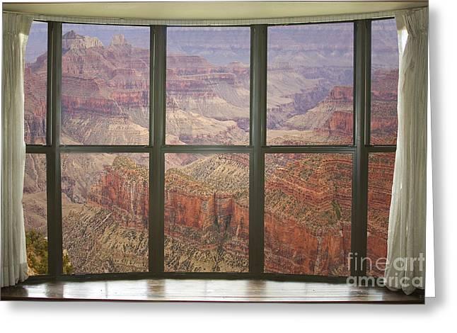 Grand Canyon North Rim Bay Window View Greeting Card