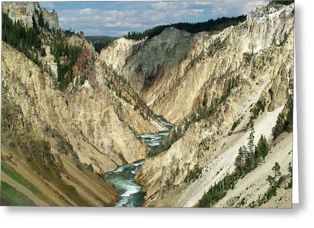 Grand Canyon Of The Yellowstone Greeting Card by Ken Smith