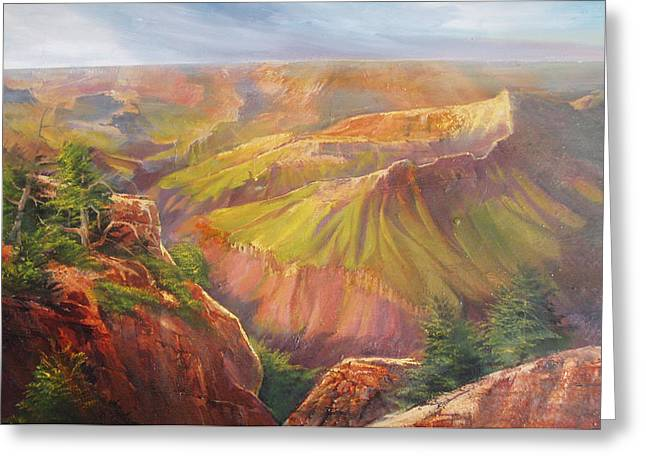 Grand Canyon Greeting Card by Robert Carver