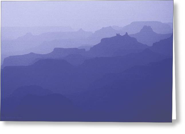Grand Canyon Silhouettes Greeting Card