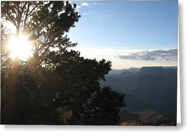 Grand Canyon Sun Greeting Card