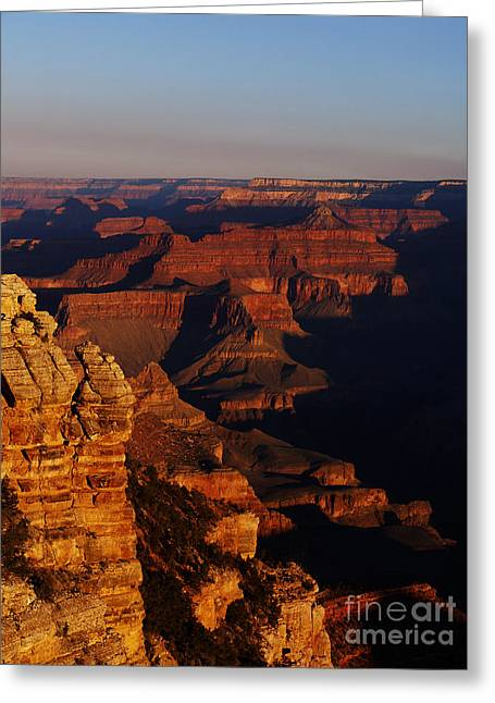 Grand Canyon Sunset Greeting Card by Holger Ostwald